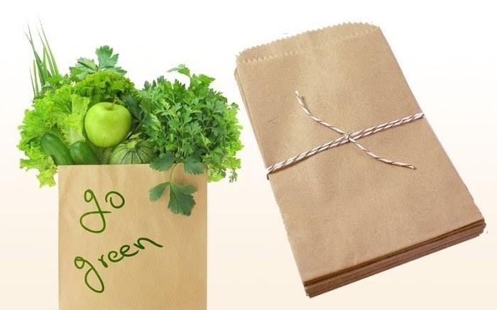 Túi giấy Kraft an toàn với sức khỏe con người và thân thiện với môi trường