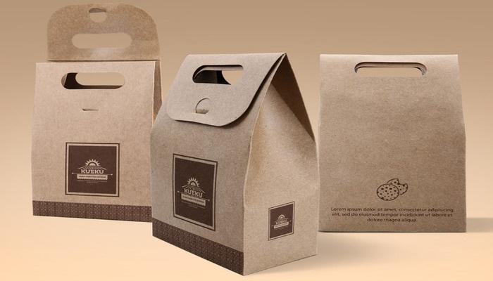 Giấy kraft thường được dùng để sản xuất khay, túi, hộp giấy đựng cafe